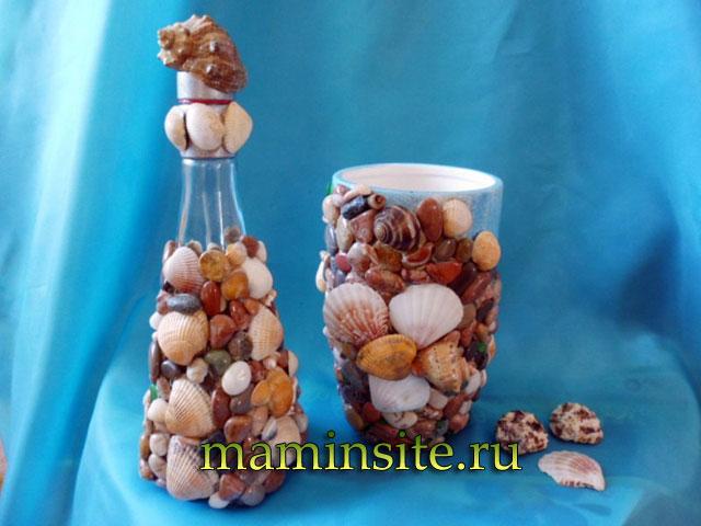 Поделки из природного материала камушек