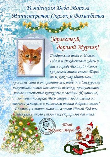 Письмо от Деда Мороза на заказ