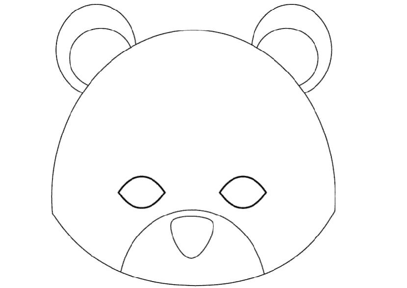 Выкройка маски медведя для мальчика 9 лет своими руками