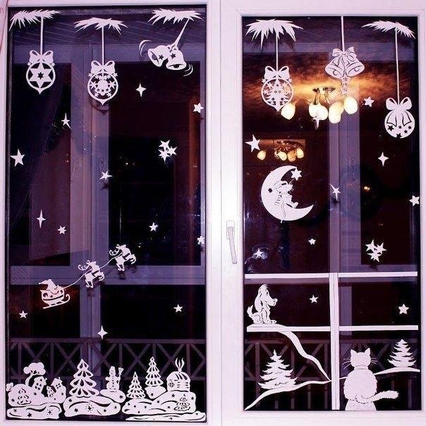Сегодня мы украсим окна и