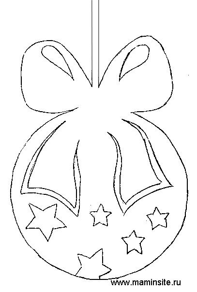Елочные украшения из бумаги шаблоны своими руками